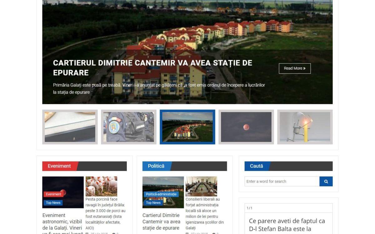 Creare site - ziar online